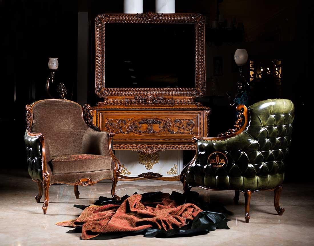 بوفه و آینه فرانسوی