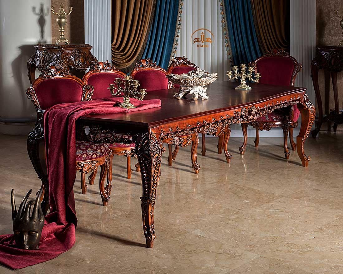 میز غذاخوری سلطنتی