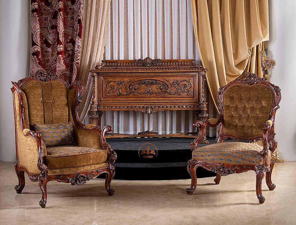 مبل کویین و پشت تخت فرانسوی