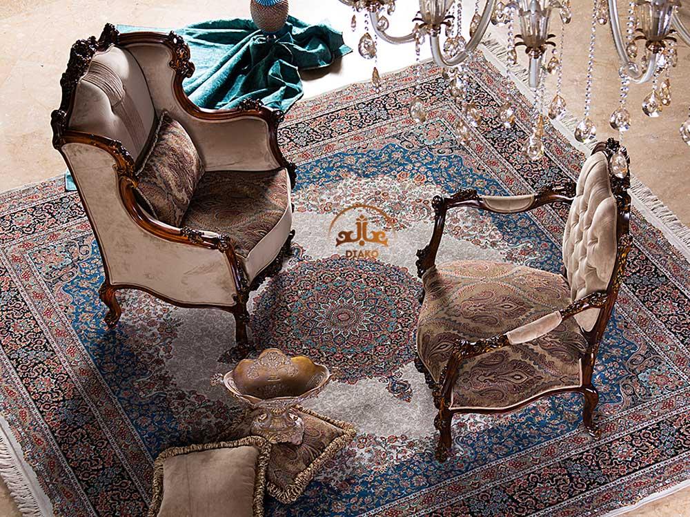 مبل کویین و مبل پشت تخت فرانسوی