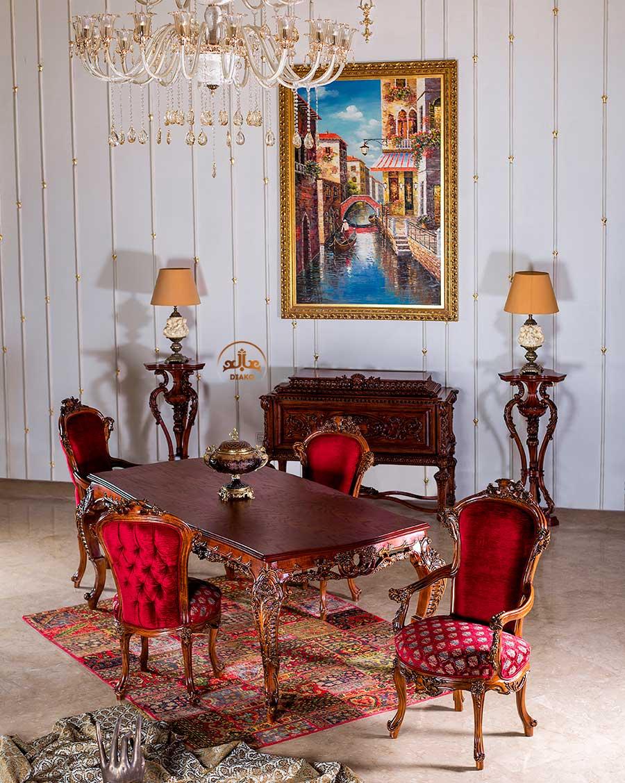 میز غذاخوری سلطنتی ایتالیایی