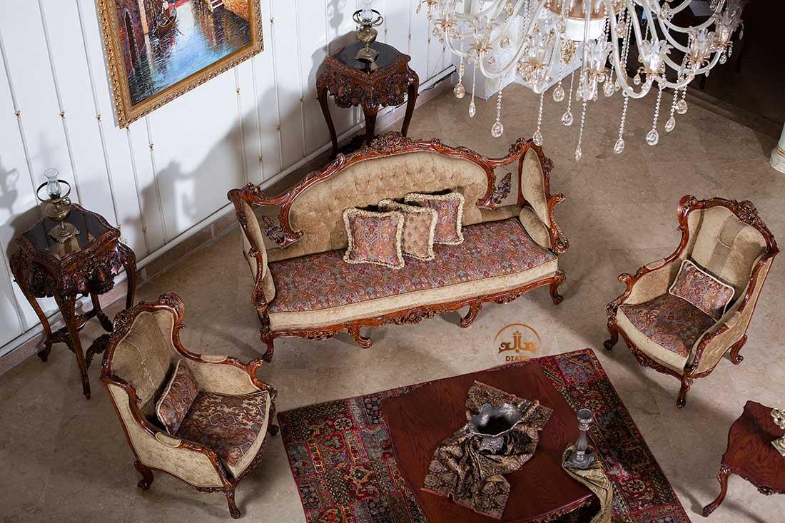 کاناپه و مبل کویین فرانسوی