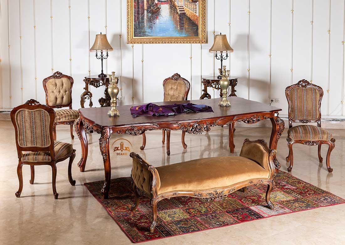 میز و صندلی غذاخوری کلاسیک