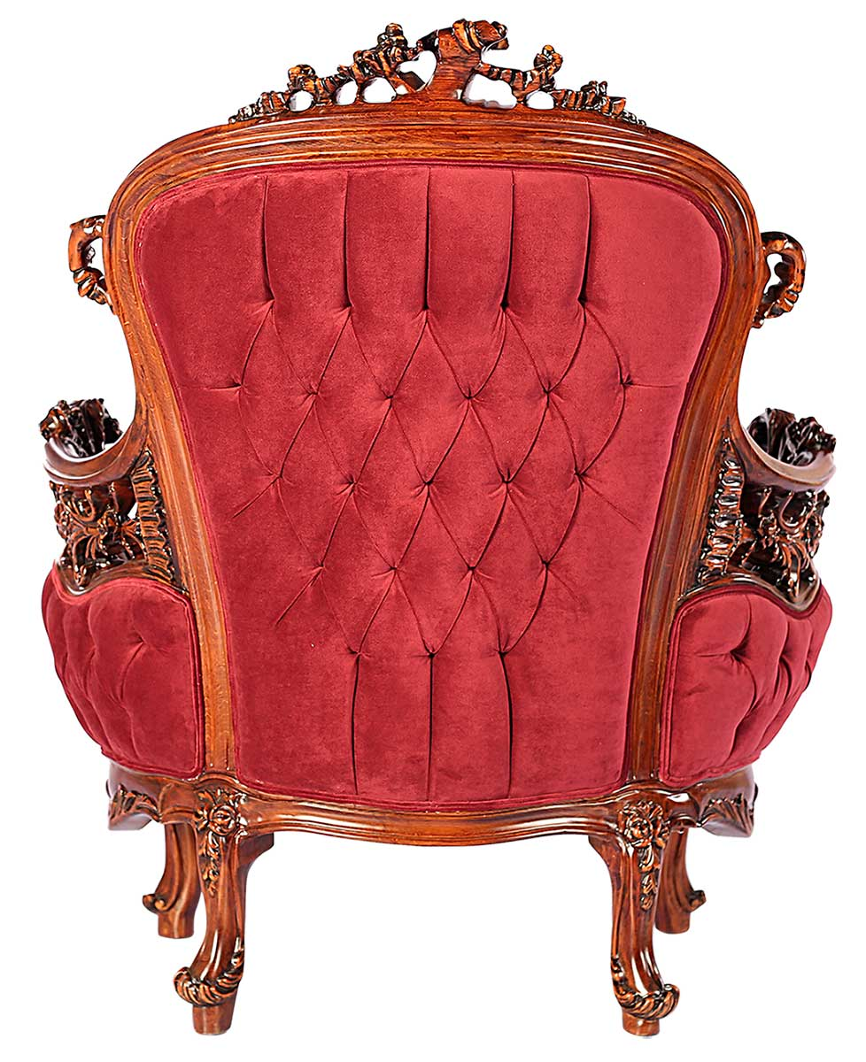 صندلی دسته دار آرمانت قرمز