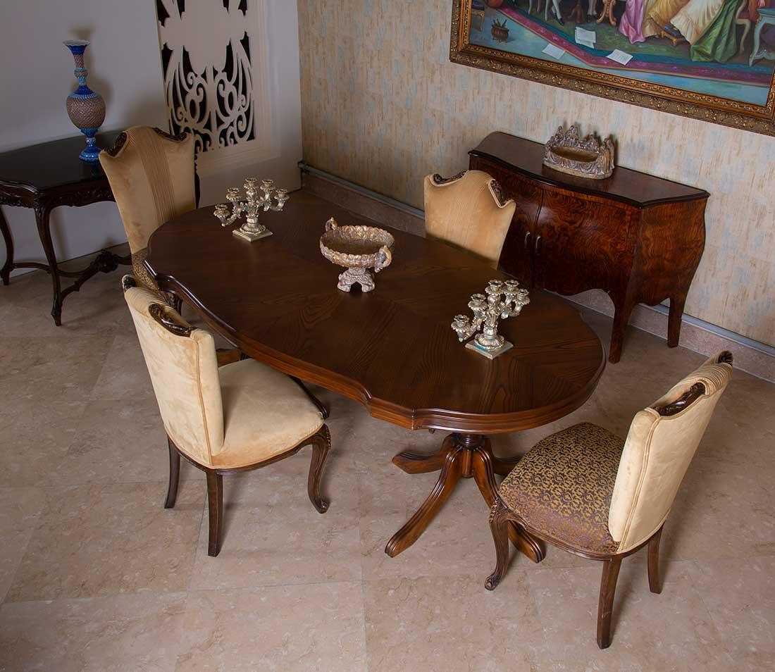 میز و صندلی 6 نفره غذاخوری