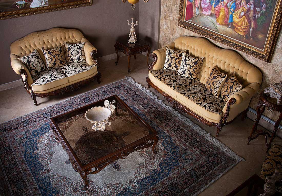 دو کاناپه دو نفره و سه نفره کمل بک