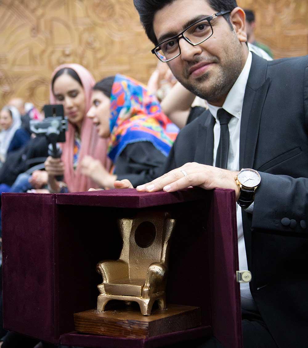 کسب لوح و نماد زرین نمایشگاه بین المللی مبلمان تهران