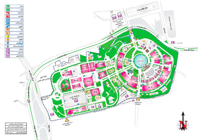 نقشه نمایشگاه بین المللی مبلمان تهران 1398