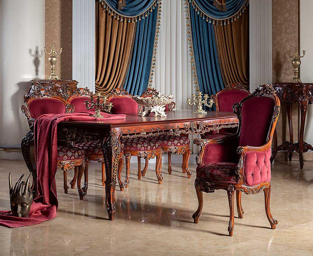 میز و صندلی غذاخوری ایتالیایی آرمانت
