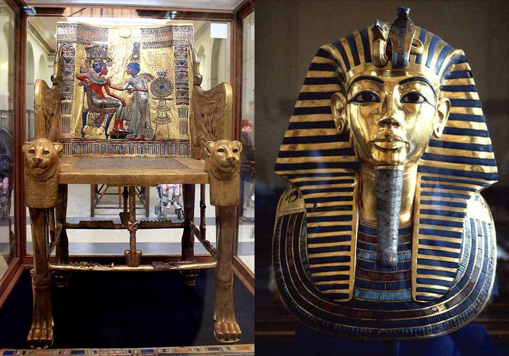 صندلی توت عنخ آمون در موزه مصر