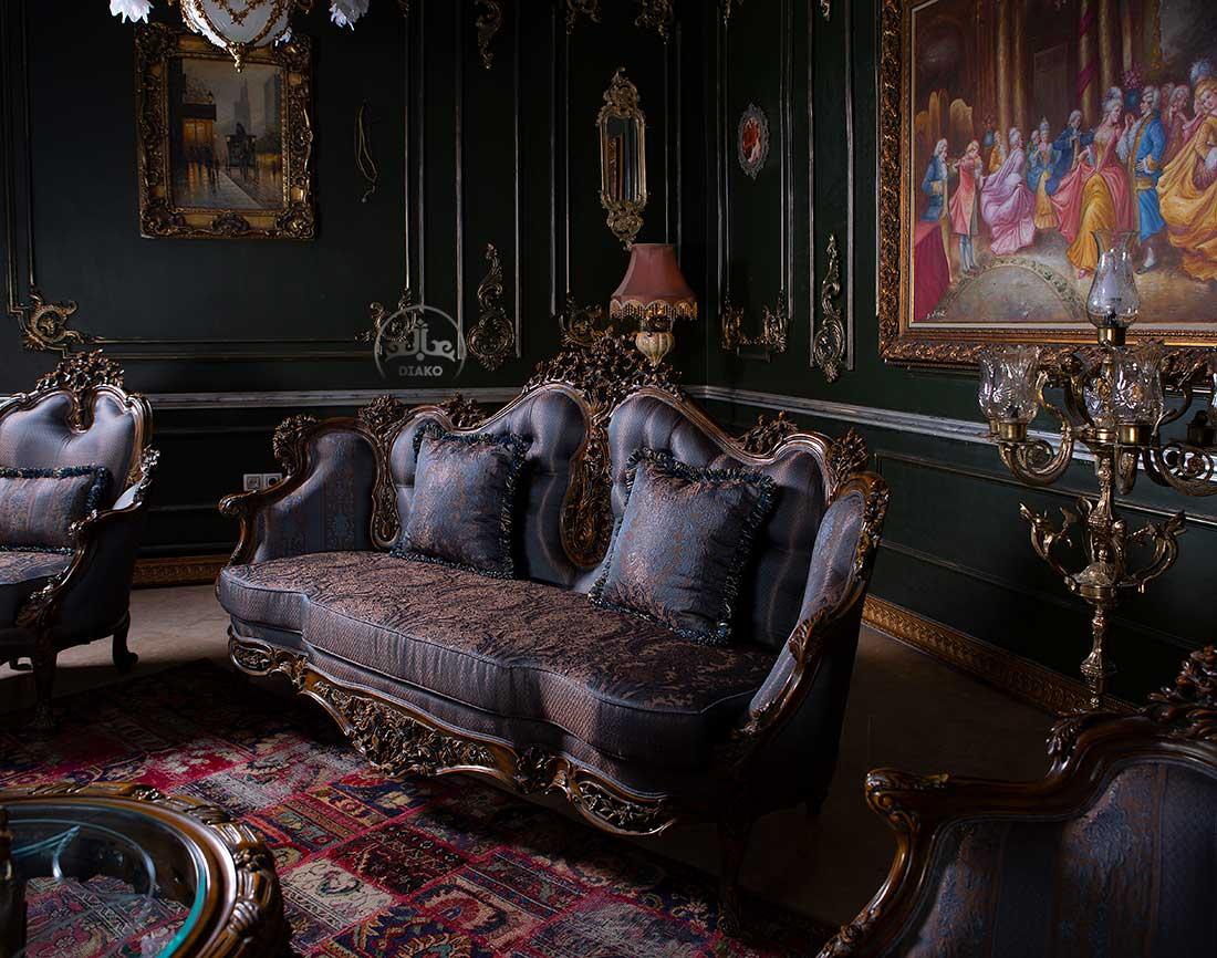 کاناپه مبل سلطنتی رزالین