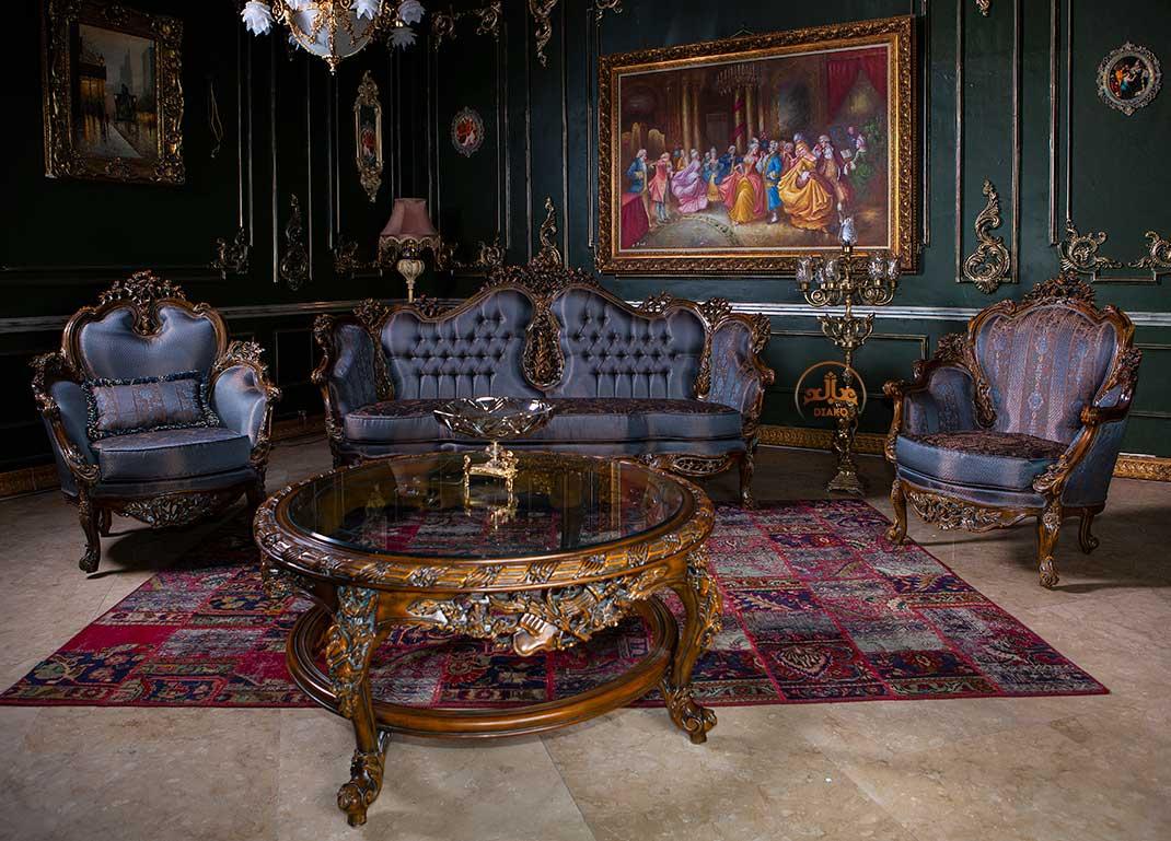 میز جلومبلی فرانسوی رزالین