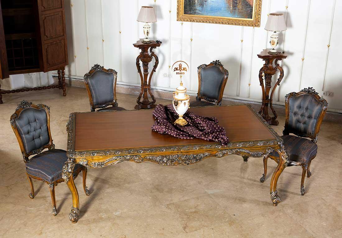 میز غذاخوری سلطنتی فرانسوی رزالین