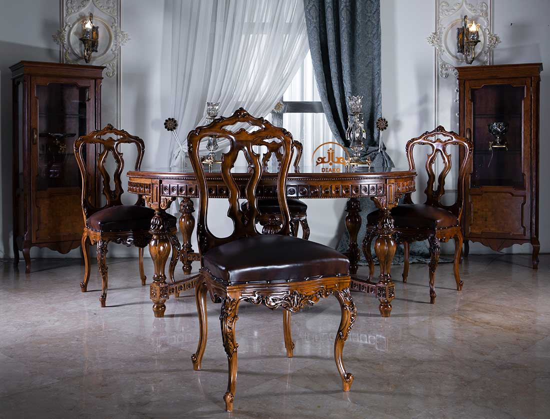 صندلی انگلیسی ویلیام با میز اسپانیایی